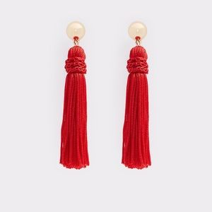 Aldo Red Tassel Earrings